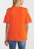 Plus Size Orange Lace Cold Shoulder Top alternate view