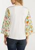 Plus Size Chiffon Floral Sleeve Top alternate view