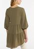 Plus Size Tiered Crepe Tunic alternate view