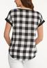 Plus Size Checkered Detail High- Low Tee alternate view