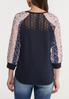 Mixed Print Sleeve Top alternate view
