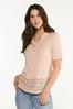 Lace Trim Henley alt view