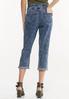 Tie Belt Cropped Girlfriend Jeans alternate view