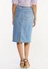 Lightwash Denim Skirt alternate view