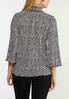 Plus Size Pleated Mock Neck Houndstooth Top alternate view