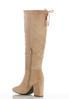 Faux Suede Tall Heeled Boots alternate view