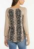 Lace Up Snake Print Top alternate view