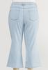 Plus Size Cropped Lightwash Flare Jeans alternate view