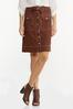 Contrast Stitch Linen Skirt alternate view