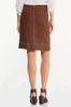 Contrast Stitch Linen Skirt alt view