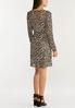 Plus Size Leopard Mesh Dress alternate view