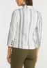 Muted Stripe Linen Blazer alternate view