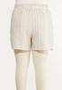 Plus Size Rainbow Stripe Linen Shorts alternate view