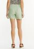 Green Linen Shorts alternate view