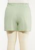 Plus Size Green Linen Shorts alternate view