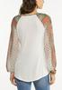 Plus Size Sheer Patchwork Sleeve Top alternate view