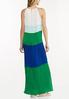 Petite Pleated Colorblock Maxi Dress alternate view