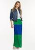 Petite Pleated Colorblock Maxi Dress alt view