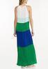 Plus Size Pleated Colorblock Maxi Dress alternate view