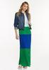 Plus Size Pleated Colorblock Maxi Dress alt view