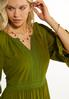 Green Lace Trim Babydoll Dress alt view