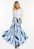 Plus Size Tie Dye Maxi Skirt alt view