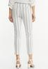Striped Bengaline Ankle Pants alternate view