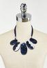 Navy Resin Cord Necklace alternate view