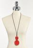 Red Pendant Cord Necklace alternate view