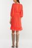 Plus Size Textured Dot Tie Waist Dress alt view