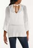 Plus Size Ivory Tie Back Sweater alternate view