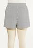 Plus Size Striped Button Shorts alternate view