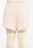 Plus Size Button Front Gauze Shorts alternate view
