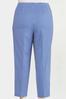 Plus Size Blue Gingham Ankle Pants alt view