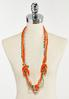 Knotted Multi Wood Bead Necklace alternate view