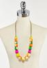 Cheerful Wood Bead Cord Necklace alternate view
