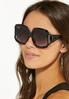 Jackie Oversized Vented Sunglasses alt view