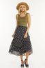 Plus Size Ruffled Floral Midi Skirt alt view