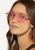 Pink Shield Sunglasses alt view