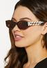 Chain Link Tortoise Sunglasses alt view