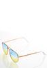 Jenelle Ombre Aviator Sunglasses alternate view
