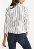 Plus Size Striped Bengaline Blazer alternate view
