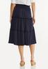 Plus Size Textured Midi Skirt alternate view