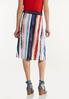 Plus Size Watercolor Stripe Skirt alternate view