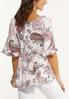 Plus Size Tiered Pink Paisley Top alternate view