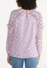 Ruffled Embroidered Top alternate view