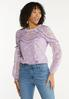 Ruffled Embroidered Top alt view