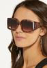 Tortoise Square Sunglasses alt view