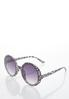 Gray Leopard Round Sunglasses alternate view
