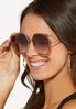 Oversized Orange Sunglasses alt view